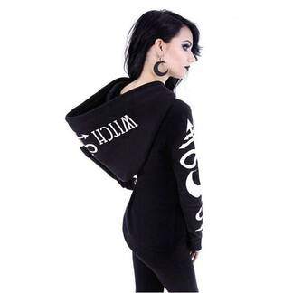 Women's Gothic Zipper Hoodie Hoodies & Sweatshirts Women's Clothing & Accessories