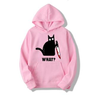 Women's Cotton Hoodie with Cat Print Hoodies & Sweatshirts Women's Clothing & Accessories