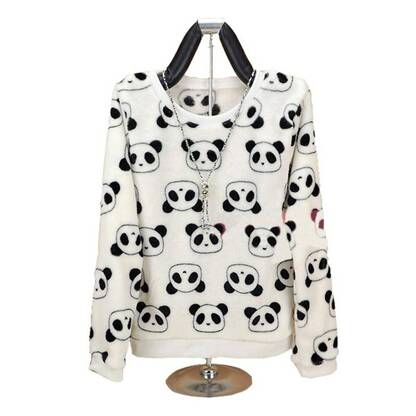 Women's Panda Printed Sweatshirt Hoodies & Sweatshirts Women's Clothing & Accessories