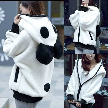 Women's Panda Designed Hoodie Hoodies & Sweatshirts Women's Clothing & Accessories