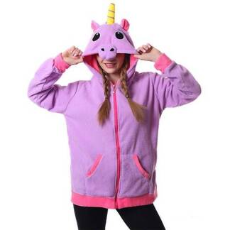 Women's Kawaii Unicorn Plush Hoodie Hoodies & Sweatshirts Women's Clothing & Accessories