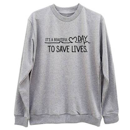 """Women's Printed Pullover """"Its a Beautiful Day to Save Lives"""" Hoodies & Sweatshirts Women's Clothing & Accessories"""