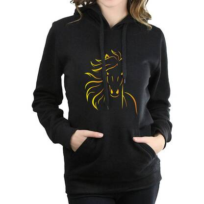 Women's Horse Printed Casual Hoodie Hoodies & Sweatshirts Women's Clothing & Accessories