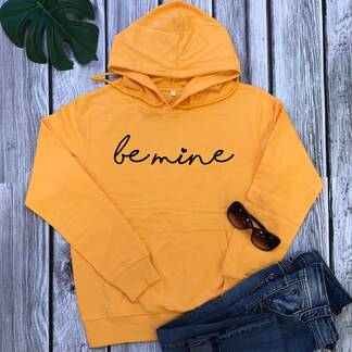 "Women's Casual Hoodie ""Be Mine"" Hoodies & Sweatshirts Women's Clothing & Accessories"