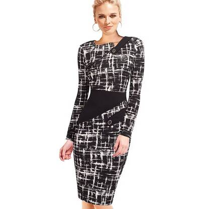 Women's Office Style Pencil Dress Dresses Women's Clothing & Accessories
