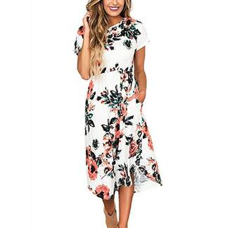 Summer Bohemian Floral Printed Dress Dresses Women's Clothing & Accessories