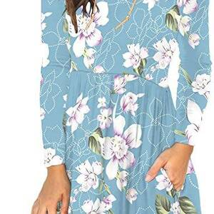 Women's Elegant Floral Printed Dress Dresses Women's Clothing & Accessories