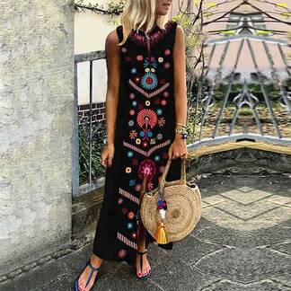 Women's Boho Style Maxi Dress Dresses Women's Clothing & Accessories