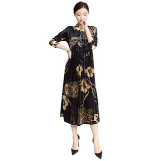 Women's Straight Loose Elegant Floral Dress Dresses Women's Clothing & Accessories