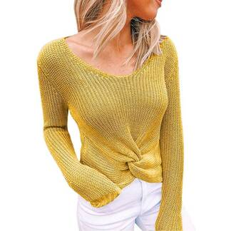 Women's Basic Knitted Long Sleeve Sweaters Women's Clothing & Accessories