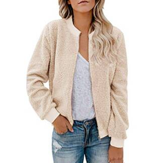 Women's Winter Basic Cardigan with Zipper Cardigans Women's Clothing & Accessories