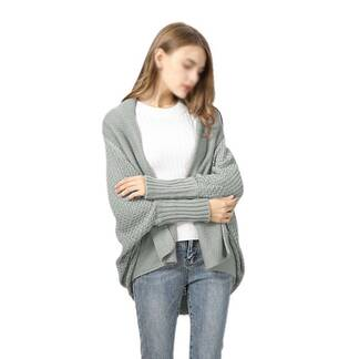 Women's Loose Knitted Ruffled Cardigan Cardigans Women's Clothing & Accessories