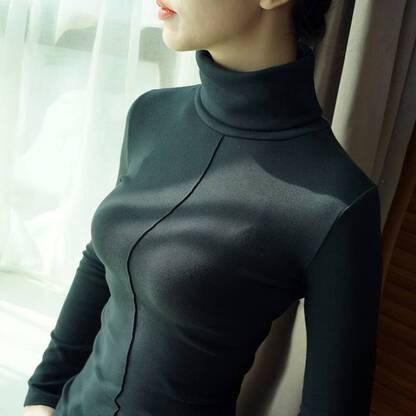 Women's Turtleneck Pullover Pullovers Women's Clothing & Accessories