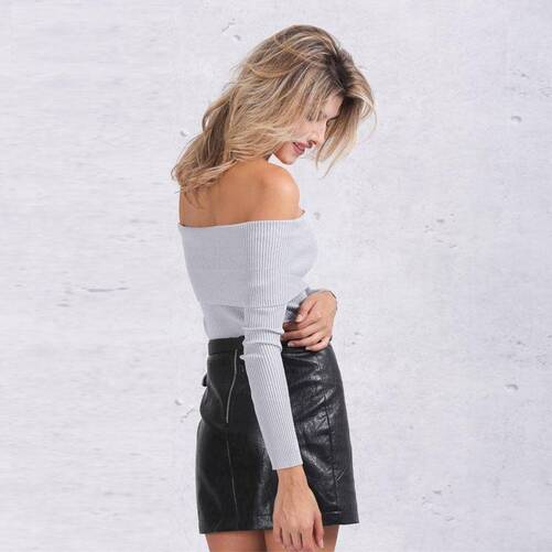 Women's Off Shoulder Pullover Pullovers Women's Clothing & Accessories