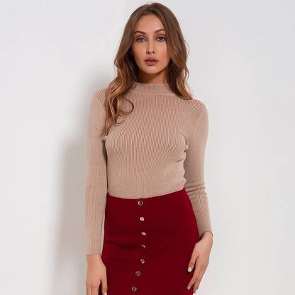 Women's Bodycon Sweater Pullovers Women's Clothing & Accessories