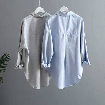Women's Classic Summer Long Sleeve Blouse Blouses & Shirts Women's Clothing & Accessories