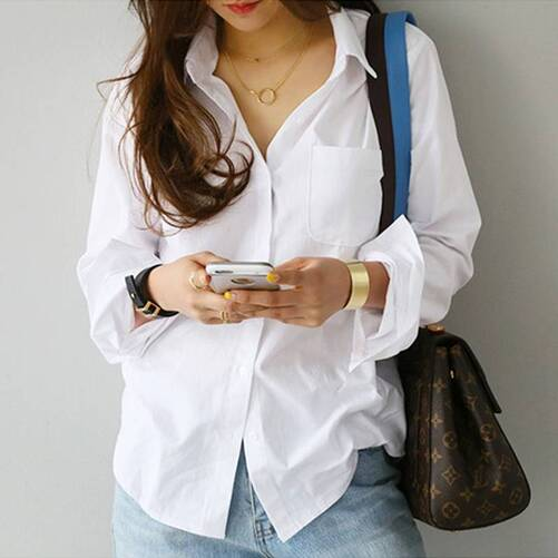 Women's White Summer Blouse Blouses & Shirts Women's Clothing & Accessories