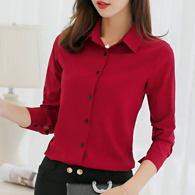 Women's Chiffon Office Shirt Blouses & Shirts Women's Clothing & Accessories