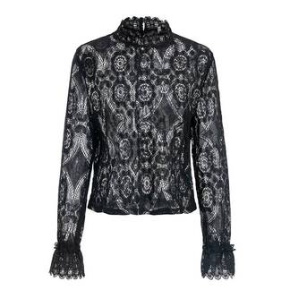 Elegant Flower Lace Blouse Blouses & Shirts Women's Clothing & Accessories