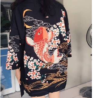 Women's Japanese Style Short Kimono Blouses & Shirts Women's Clothing & Accessories