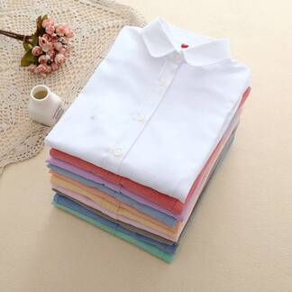 Casual Breathable Cotton Women's Shirt Blouses & Shirts Women's Clothing & Accessories