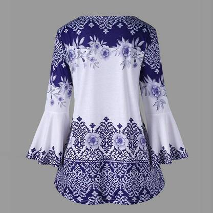 Women's Vintage Floral Printed Blouse Blouses & Shirts Women's Clothing & Accessories