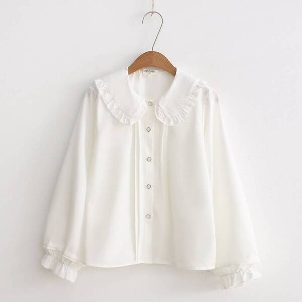 Lolita Women's Blouse with Lace Details Blouses & Shirts Women's Clothing & Accessories