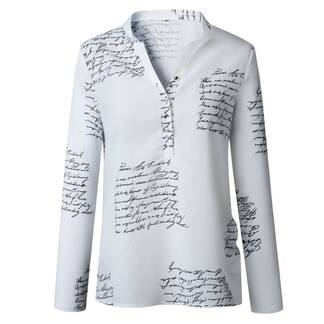 Women's Letters Printed Blouse Blouses & Shirts Women's Clothing & Accessories