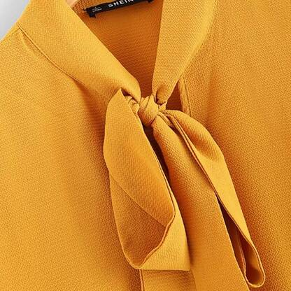 Women's Mustard Color Ruffle Design Blouse Blouses & Shirts Women's Clothing & Accessories