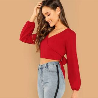 Women's Sexy Style Red Backless Blouse Blouses & Shirts Women's Clothing & Accessories