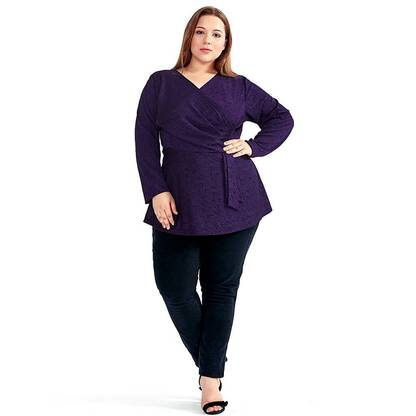 Women's Classic Style Winter Plus Size Long Sleeved Top Blouses & Shirts Women's Clothing & Accessories