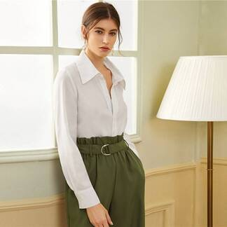 Women's Turn-Down Collar Casual Blouse Blouses & Shirts Women's Clothing & Accessories