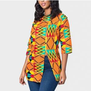 Women's Geometric Print African Top Blouses & Shirts Women's Clothing & Accessories