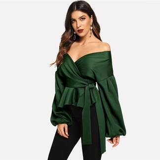 Women's Elegant Style Off Shoulder Blouse Blouses & Shirts Women's Clothing & Accessories