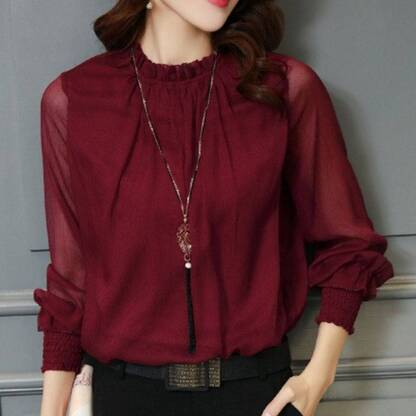 Women's Casual Long Sleeve Blouse Blouses & Shirts Women's Clothing & Accessories