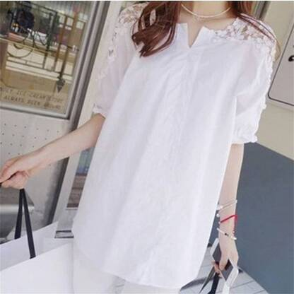 Women's Summer Laced Plus Size Blouse Blouses & Shirts Women's Clothing & Accessories