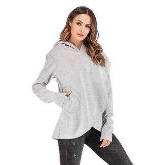 Women's Embroidered Pocket Hoodie Hoodies & Sweatshirts Women's Clothing & Accessories
