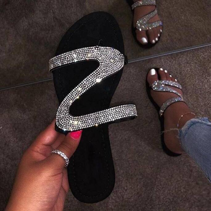 Shiny Slippers for Girls Women Shoes Women's Sandals