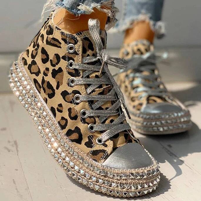 Women's Leopard Sneakers Women Shoes Women's Shoes