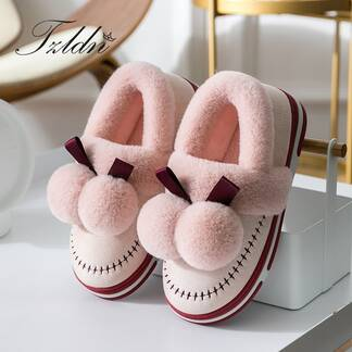 Women's Winter Suede Plush Shoes Slippers Women Shoes