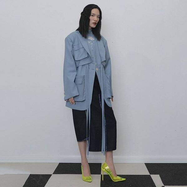 Blue Belted Trench Jackets & Coats Trench Women's Clothing & Accessories