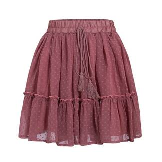 Bohemian Mini Skirt with Tassel Bottoms Skirts Women's Clothing & Accessories