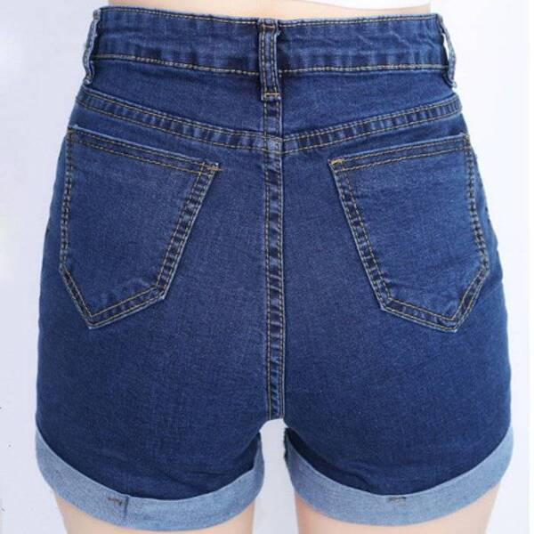Cute Retro Style Summer High-Waisted Denim Women's Shorts Bottoms Shorts Women's Clothing & Accessories
