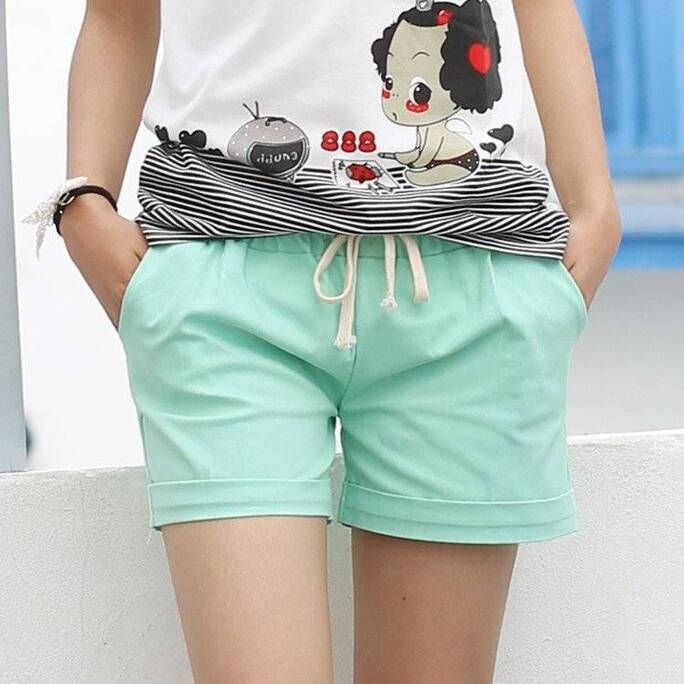 Cute Summer Casual Loose Cotton Women's Shorts Bottoms Shorts Women's Clothing & Accessories