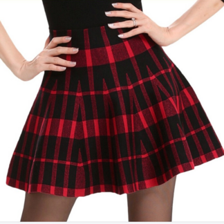 Fashion Casual High-Waisted Plaid Women's Skirt Bottoms Skirts Women's Clothing & Accessories