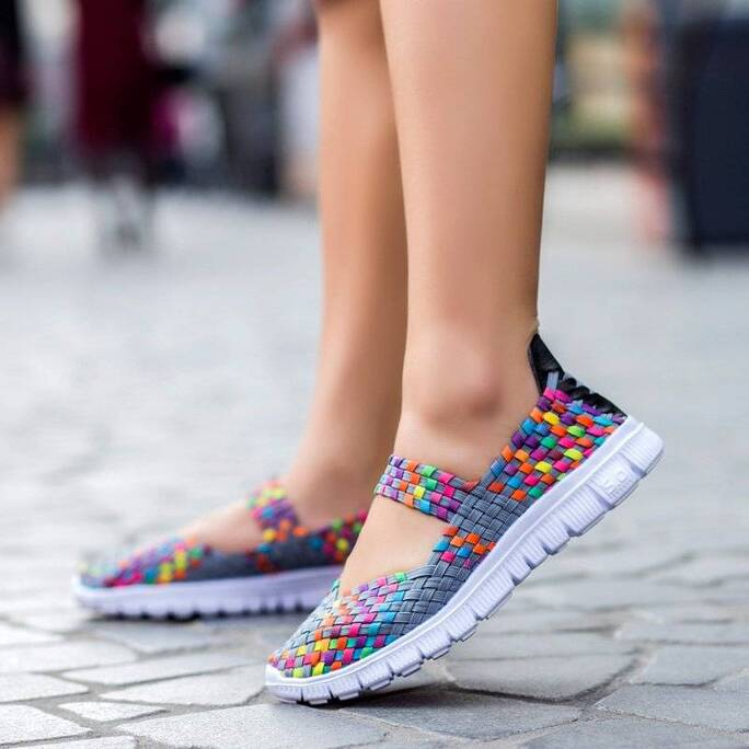 Fashion Summer Breathable Woven Women's Shoes Women Shoes Women's Flats
