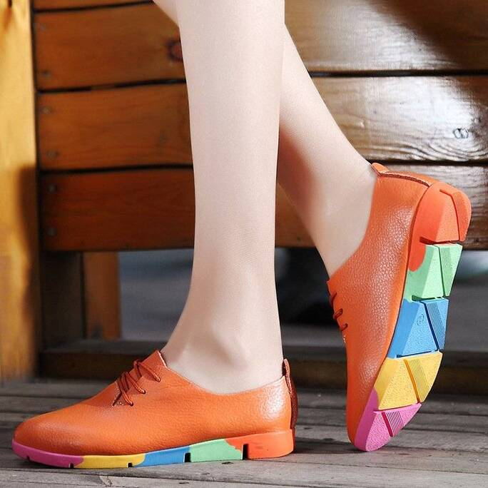 Fashion Summer Casual Leather Women's Flat Shoes Women Shoes Women's Flats