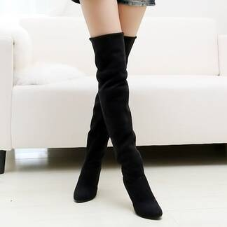 Fashion Winter Suede Women's Knee-High Boots Women Shoes Women's Boots