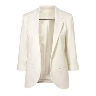 Formal Open Front Notched Blazer for Women Basic Jackets Jackets & Coats Women's Clothing & Accessories