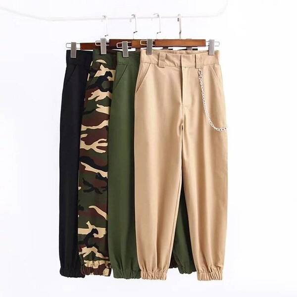 High Waist Loose Pants for Women with Camouflage Designs Bottoms Pants & Capris Women's Clothing & Accessories